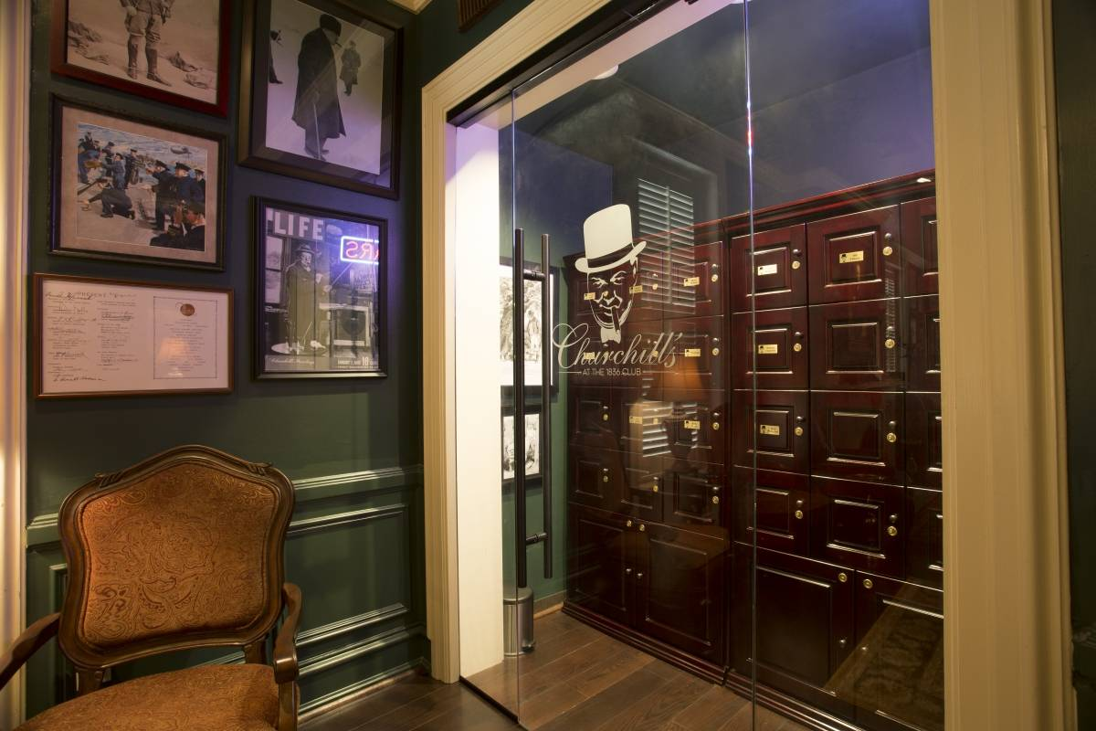 Churchill Cigar Lounge - Cigar Lockers